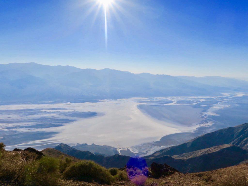 Vue panoramique de death valley