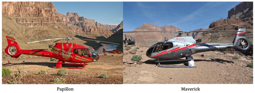comparaison des hélicoptères maverick et papillon