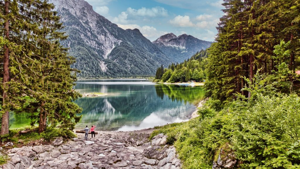 Visite du lac de Predil qui est magnifique en Slovénie.