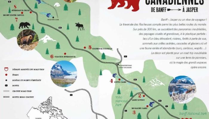 Notre itinéraire dans les Rocheuses Canadiennes