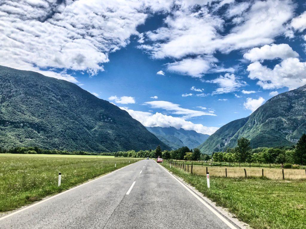 Route vers Kobarid