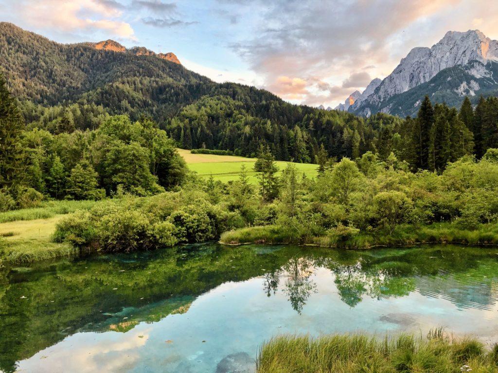 Coucher de soleil sur les Alpes Juliennes