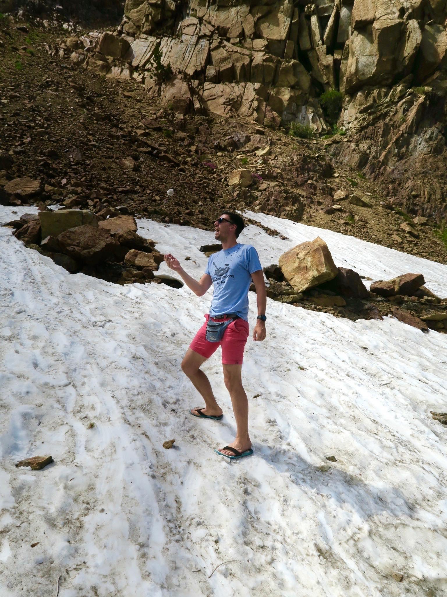 De la neige dans Yosemite